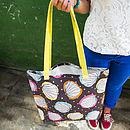 Scribble Shells Canvas Shopper Bag