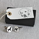 Ceramic Labrador Cufflinks