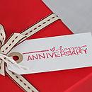 'Happy Anniversary' Tiny Porcelain Heart Dish
