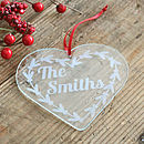 Personalised Name Heart Christmas Decoration