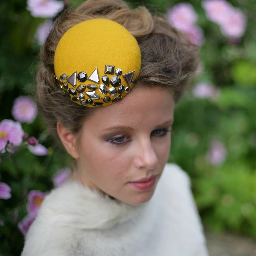 9faf141b627ef studded felt pillbox hat by the headmistress