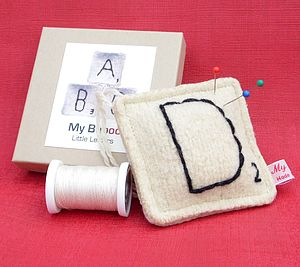 Personalised Wool Letter Pin Cushion - sewing & knitting