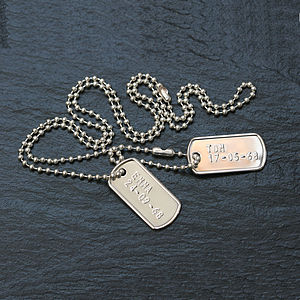 Personalised Silver Mini Dog Tag Necklace - necklaces & pendants