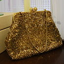 Vintage 1950s Le Soir Gold Evening Bag