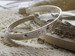 Boys Silver Christening Bangle - children's jewellery