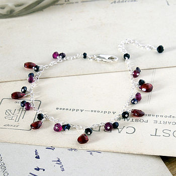 Garnet And Black Spinel Bracelet