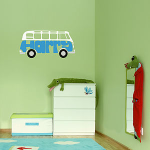 Personalised Campervan Wall Sticker