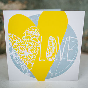 Limited Edition 'Love' Card - anniversary gifts