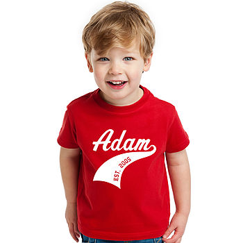 Child's Personalised Athletic Sports T Shirt