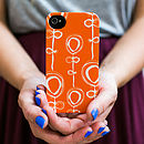 Contemporary Orange Phone Case
