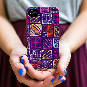 Doodle Squares Phone Case - interests & hobbies