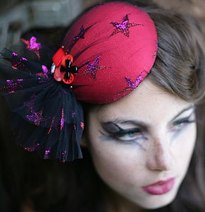 Starry Eyed Circus Pillbox Hat - head pieces