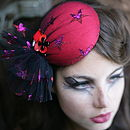 Starry Eyed Circus Pillbox Hat