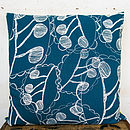 Ghost Leaves Large Reversible Cushion Cover