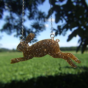 Golden Hare Necklace