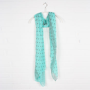 Dottie Lace Scarf, Mint