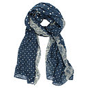 Dottie Lace Scarf, Midnight Blue