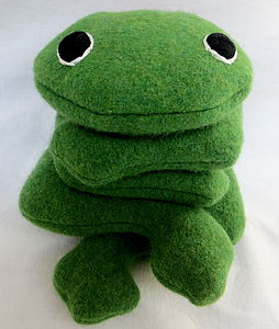 Handmade, Personalised Bean Bag Frog