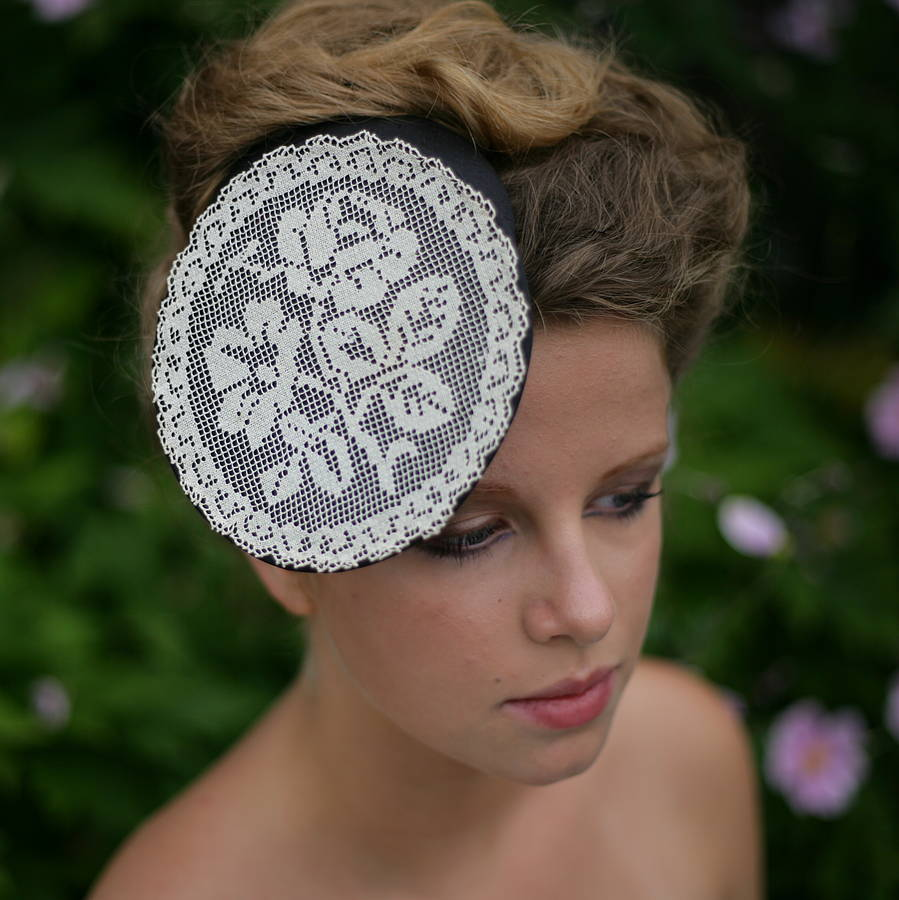 Lace Maid Silk And Lace Pillbox Hat