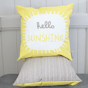 Hello Sunshine Printed Cushion