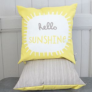 Hello Sunshine Printed Cushion - patterned cushions