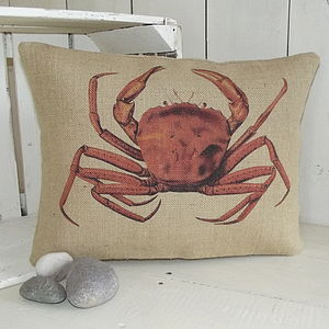' Coastal Crab ' Cushion - cushions
