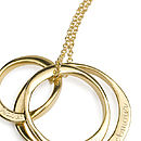 18ct Gold Plated Three Ring Necklace