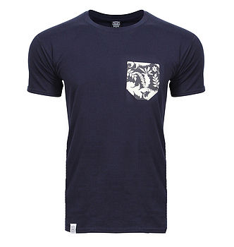 Navy Blue T Shirt front view