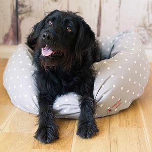 Donut Dog Bed Grey Spot - dogs