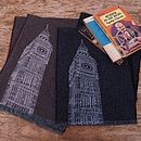 Big Ben Print Lambswool Scarf Personalisable