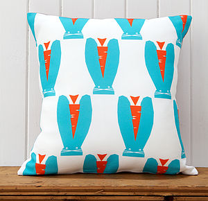 Alfie Rabbit Cushion - children's room