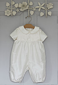 Boys 'Luke' Christening Romper Suit - clothing