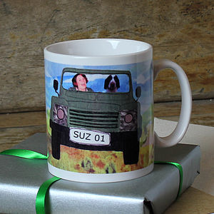 Personalised Four Wheel Drive Mug - dining room