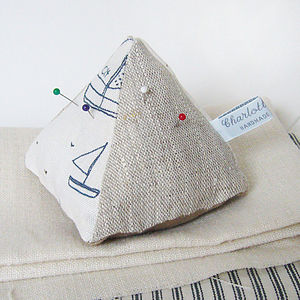 Yachts Pin Cushion - sewing & knitting