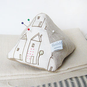 Neighbourhood Pin Cushion - sewing & knitting