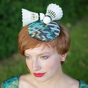 Shuttlecock Geometric Pillbox Hat - hats & fascinators