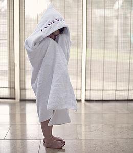 Girl's Hooded Towel - bathroom