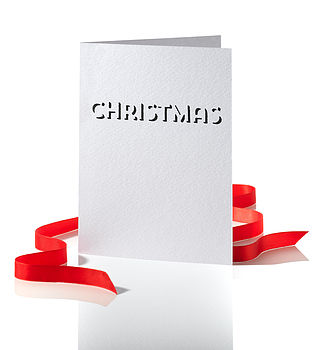 Pack Of Four White Christmas Cards