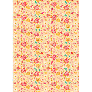 Vintage Style Roses Wrapping Paper