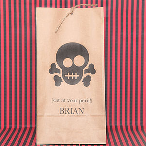 Personalised Halloween Skull Party Bags