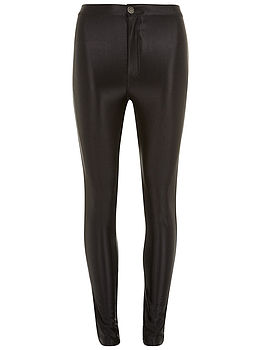 Black High Shine Disco Pants