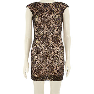 25% Off Black Lace Sparkly Bodycon Was £34