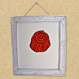 Tunnocks Tea Cake Lino Print
