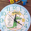 Alice Palace croc clock with black hands