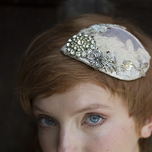 Bridal Teardrop Headdress - hats & fascinators