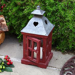 Christmas Cottage Heart Lantern - lights & lanterns
