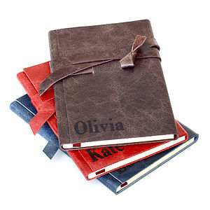 2014 Personalised Leather Wrap Weekly Diary