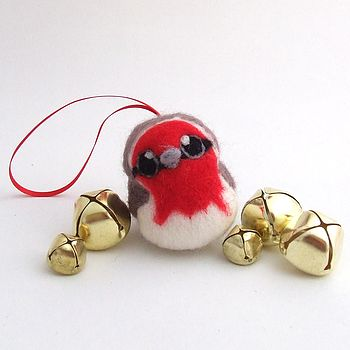 Needle Felted Robin Christmas Decoration