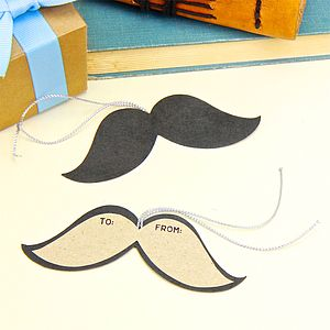 Moustache Shape Gift Tag - birthday labels & tags