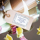 Personalised bookish Gift Tag